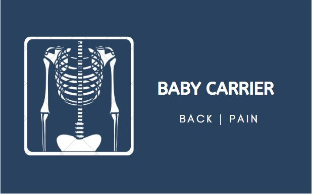 Why does my baby carrier hurt my back